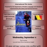 Modern Languages and Literatures International Film Series - French Film Selection