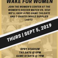 Wake for Women at Women's Soccer vs VCU