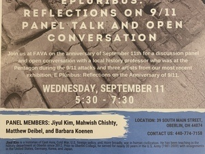 Poster of event with FAVA written on it.