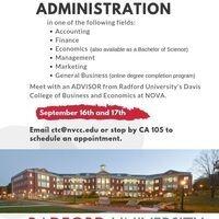 Radford University College of Business & Economics Advising Appointments
