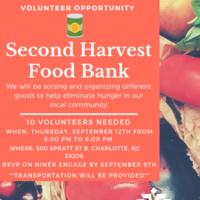 Volunteer with Second Harvest Food Bank