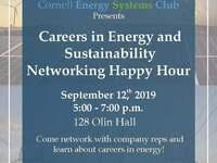 Careers in Energy and Sustainability Networking Happy Hour
