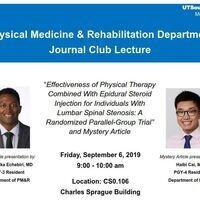 "Lecture: ""Effectiveness of Physical Therapy Combined with Epidural Steroid Injection for Individuals with Lumbar Spinal Stenosis: A Randomized Parallel-Group Trial"""