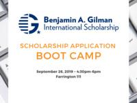 Gilman International Scholarship Application Boot Camp