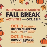 International Student Fall Break Activities