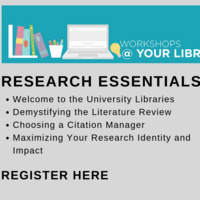 Workshops @ Your Library: Maximizing Your Research Identity and Impact