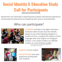 Social Identity & Education Paid Focus Group