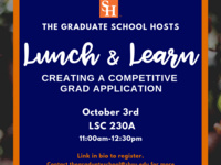 Lunch and Learn: creating a competitive graduate application