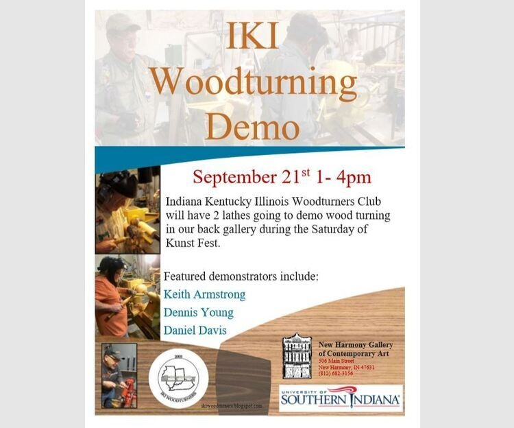 IKI Woodturning Demo at New Harmony Gallery of Contemporary Art