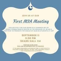 Muslim Student Association Meeting