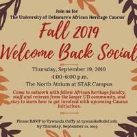 African Heritage Caucus' Fall 2019 Welcome Back Social