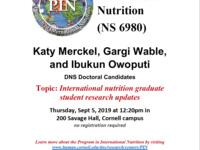 International nutrition graduate student research updates