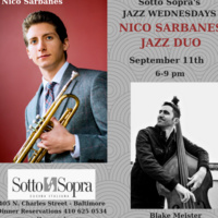 JAZZ WEDNESDAYS - NICO SARBANES JAZZ DUO