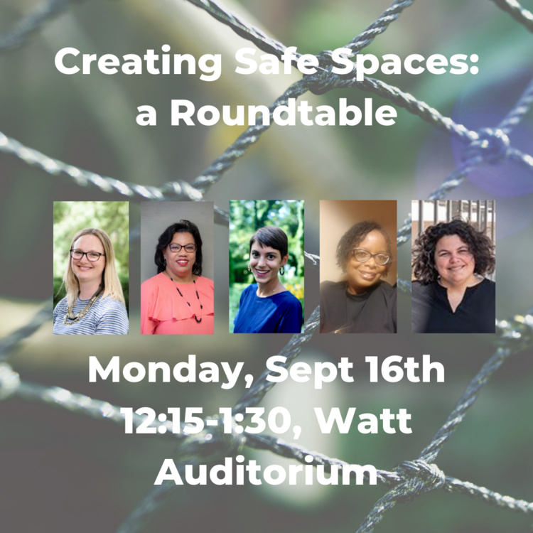 Creating Safe Spaces: a Roundtable