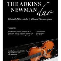 Faculty Recital Series: Elisabeth Adkins, violin.  Accompanied by Edward Newman, piano.