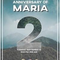 Anniversary of Hurricane Maria