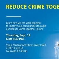 Reduce Crime Together Forum