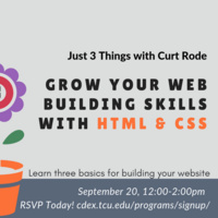 Just 3 Things: HTML and CSS w/ Curt Rode