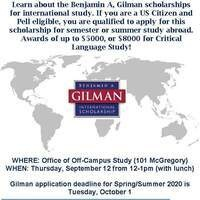 Gilman Scholarship Info Session