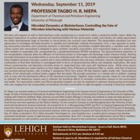 ChBE Seminar Series - Dr. Tagbo Niepa