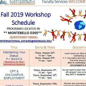 Fall 2019 International Student & Faculty Workshops: OPT Basics