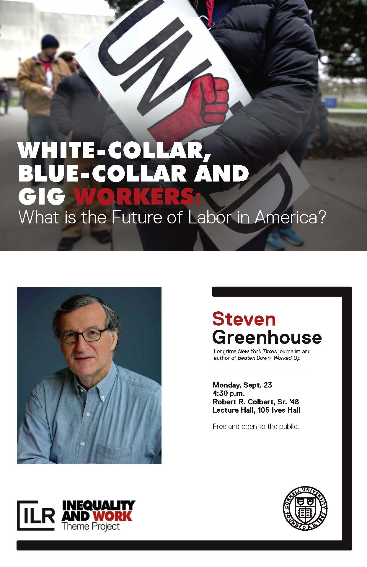 Public Lecture by Steven Greenhouse