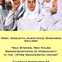 Lecture: Prof. Marini-Maio on Decamerotici Movies