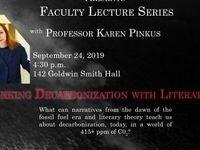 "Karen Pinkus, ""Thinking Decarbonization with Literature"""