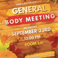 DePaul LLSA General Body Meeting