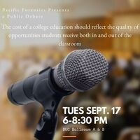 Pacific Forensics presents a public debate about tuition increases