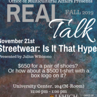 Real Talk Series - Streetwear: Is it that hype? | Multicultural Affairs