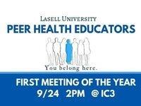 Peer Health Educators First Meeting!