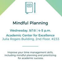 ACE Mindful Planning Workshop
