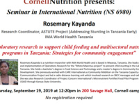 Exploratory research to support child feeding and multisectoral nutrition programs in Tanzania: Strategies for community engagement