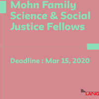 Mohn Family Science & Social Justice Fellowship