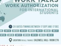 Work Talks - Work Authorization for International Students