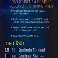 UROP Dinner with Graduate Mentors