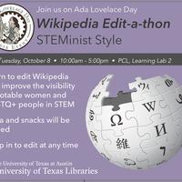 Ada Lovelace Day Wikipedia Edit-a-thon: STEMinist Style