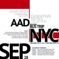 Sponsored Bus Trip to NYC | Art, Architecture & Design