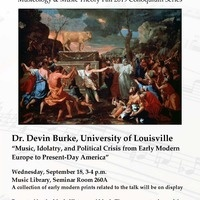 Fall Colloquium Series: Dr. Devin Burke, Asst. Prof. of Music History