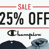25% Off Champion Apparel