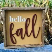 Hello Fall Sign Class