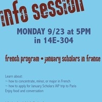 Info Session: French Program and January Scholars in France
