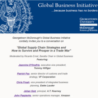 Global Supply Chain Strategies and How to Survive and Prosper in a Trade War