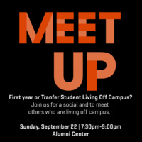 Off-Campus Living and Transfer Student Meet Up