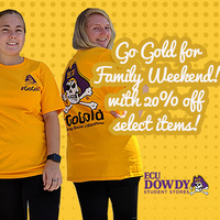 Paint it Gold for Family Weekend - Sale at Dowdy Student Stores