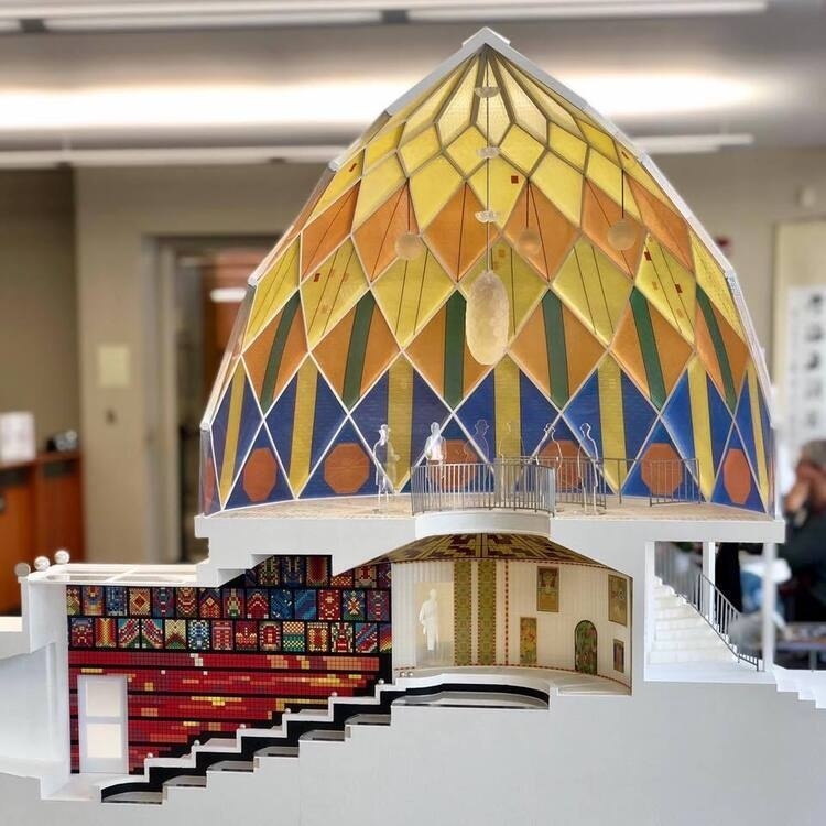 Bruno Taut's Glashaus made by Clemson Architecture students under Dr. Ufuk Ersoy.