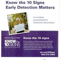 """""""Alzlheimer's  - Know the 10 Signs"""""""