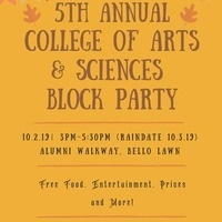 5th Annual College of Arts & Sciences Block Party