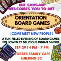 MIT Sangam Orientation Board Games
